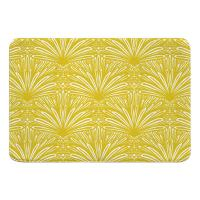 Art Deco Goldenrod Memory Foam Bath Mat
