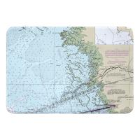FL: Yankeetown, FL Nautical Chart Memory Foam Bath Mat
