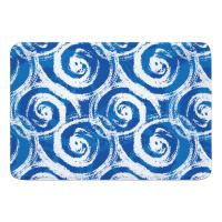 Blue Swirls Memory Foam Bath Mat