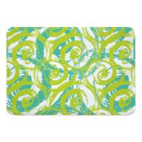 Swirls Lime Memory Foam Bath Mat