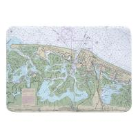 NJ: Brigantine, Atlantic City, NJ Nautical Chart Memory Foam Bath Mat