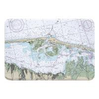 NJ: Barnegat Light, Harvey Cedars, NJ Nautical Chart Memory Foam Bath Mat