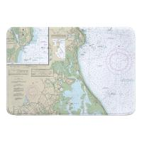 MA: Duxbury, MA Nautical Chart Memory Foam Bath Mat