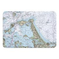 MA: Hull, Nantasket Beach, MA Nautical Chart Memory Foam Bath Mat