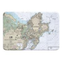 MA: Cape Ann, MA Nautical Chart Memory Foam Bath Mat