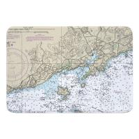 MA: Manchester, MA Nautical Chart Memory Foam Bath Mat