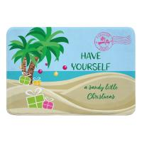 """Have Yourself A Sandy Little Christmas"" Memory Foam Bath Mat"