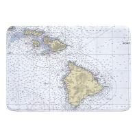 HI: Hawaiian Southern Islands Nautical Chart Memory Foam Bath Mat