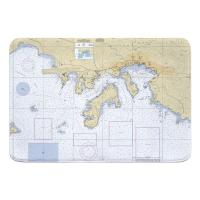 USVI: St. Thomas Harbor, USVI Nautical Chart Memory Foam Bath Mat