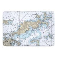 BVI: Tortola, BVI Nautical Chart Memory Foam Bath Mat