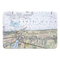 FL: Jupiter Inlet, FL Nautical Chart Memory Foam Bath Mat