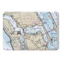FL: Stuart, Sewall's Point, FL Nautical Chart Memory Foam Bath Mat