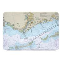 FL: Tarpon Springs, FL Nautical Chart Memory Foam Bath Mat