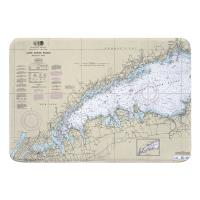 NY: Long Island Sound (WESTERN), NY Nautical Chart Memory Foam Bath Mat