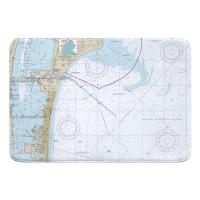 FL: Cape Canaveral, Cocoa Beach, FL Nautical Chart Memory Foam Bath Mat