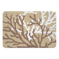 Coral Duo on Beach Sand Memory Foam Bath Mat