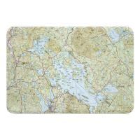 NH: Lake Winnipesaukee, NH Topo Map Memory Foam Bath Mat