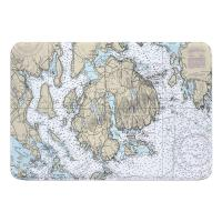 ME: Mount Desert Island, Bar Harbor, Cranberry Islands, ME Nautical Chart Memory Foam Bath Mat