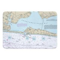 FL: Destin, FL Nautical Chart Memory Foam Bath Mat