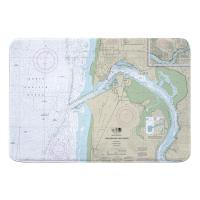 OR: Yaquina Bay and River, Newport, OR Nautical Chart Memory Foam Bath Mat