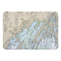 ME: Casco Bay, ME Nautical Chart Memory Foam Bath Mat