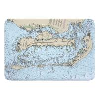 FL: Pine Island, Cayo Costa, Sanibel Island, FL Nautical Chart Memory Foam Bath Mat