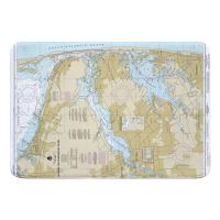 NJ: Navesink and Shrewsbury Rivers, Redbank, Rumson Neck, NJ Nautical Chart Memory Foam Bath Mat