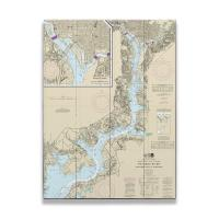 MD: Potomac River; Mattawoman Creek, MD to Georgetown, DC Nautical Chart Sign