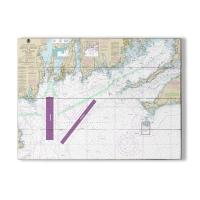 MA-RI: Martha's Vineyard, MA to Block Island, RI Nautical Chart Sign