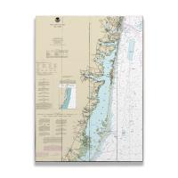 NJ: Toms River, Island Beach, Manasquan, NJ Nautical Chart Sign