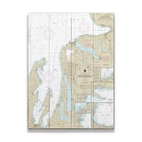MI: Grand Traverse Bay to Little Traverse Bay, MI Nautical Chart Sign