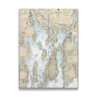 RI: Narragansett Bay, RI Nautical Chart Sign