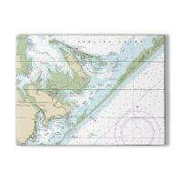 NC: Atlantic, NC Nautical Chart Sign