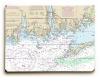 CT: Niantic, New London, Mystic, CT Nautical Chart Sign