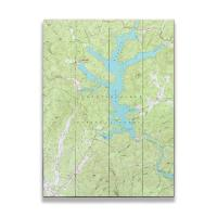 GA: Lake Burton, GA (1957) Topo Map Sign