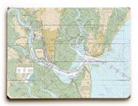 GA: St. Simons Sound, Brunswick Harbor and Turtle River, GA Nautical Chart Sign