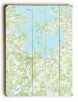 NC: Lake Norman (South), NC (1970) Topo Map Sign