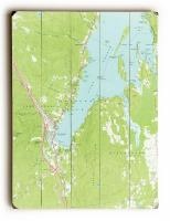 NY: Lake George, NY (1966) Topo Map Sign