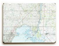 MI: Lake St. Clair (North), MI (1981) Topo Map Sign
