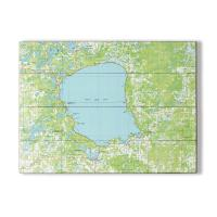 MN: Mille Lacs Lake, MN (1985) Topo Map Sign