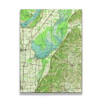 TN: Reelfoot Lake, TN (1956) Topo Map Sign