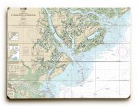 SC-GA: St. Helena Sound to Savannah River, SC-GA Nautical Chart Sign