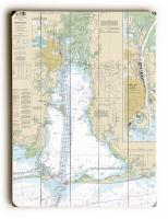 AL: Mobile Bay, AL Nautical Chart Sign