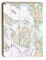 WA: Strait of Juan de Fuca to Strait of Georgia; Drayton Harbor, WA Nautical Chart Sign