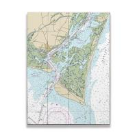 NC: Bald Head Island, NC Nautical Chart Sign