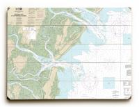 GA: Ossabaw & St. Catherines Sounds, GA Nautical Chart Sign