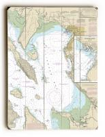 WA: Bellingham Bay, WA Nautical Chart Sign