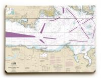 WA: Strait of Juan De Fuca; Eastern Part, WA Nautical Chart Sign