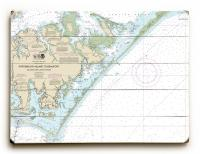 NC: Portsmouth Island to Beaufort, NC Nautical Chart Sign