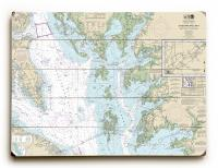 MD-VA: Chesapeake Bay - Smith Point to Cove Point, MD-VA Nautical Chart Sign